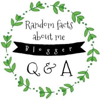 Random Facts about me blogger Q & A
