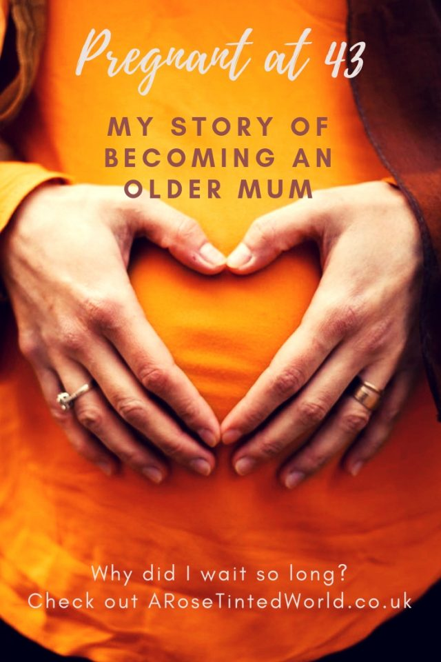 Pregnant at 43 - becoming an older mum. The challenges of conceiving and pregnancy whilst in your 40s. How I became pregnant, and how being a mature mother can affect your pregnancy. Conception over 40. Elderly primigravida. #pregnancy #oldermum #oldermother #pregnancyin40s