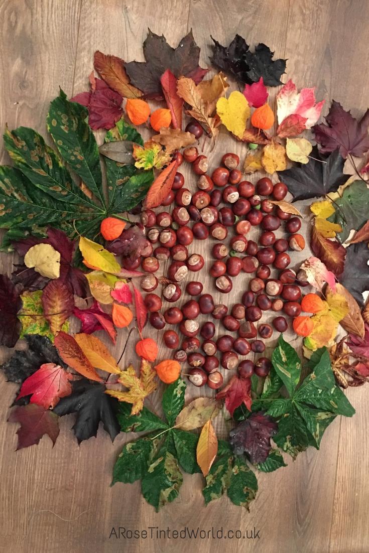 Autumn Bucket List conker haul