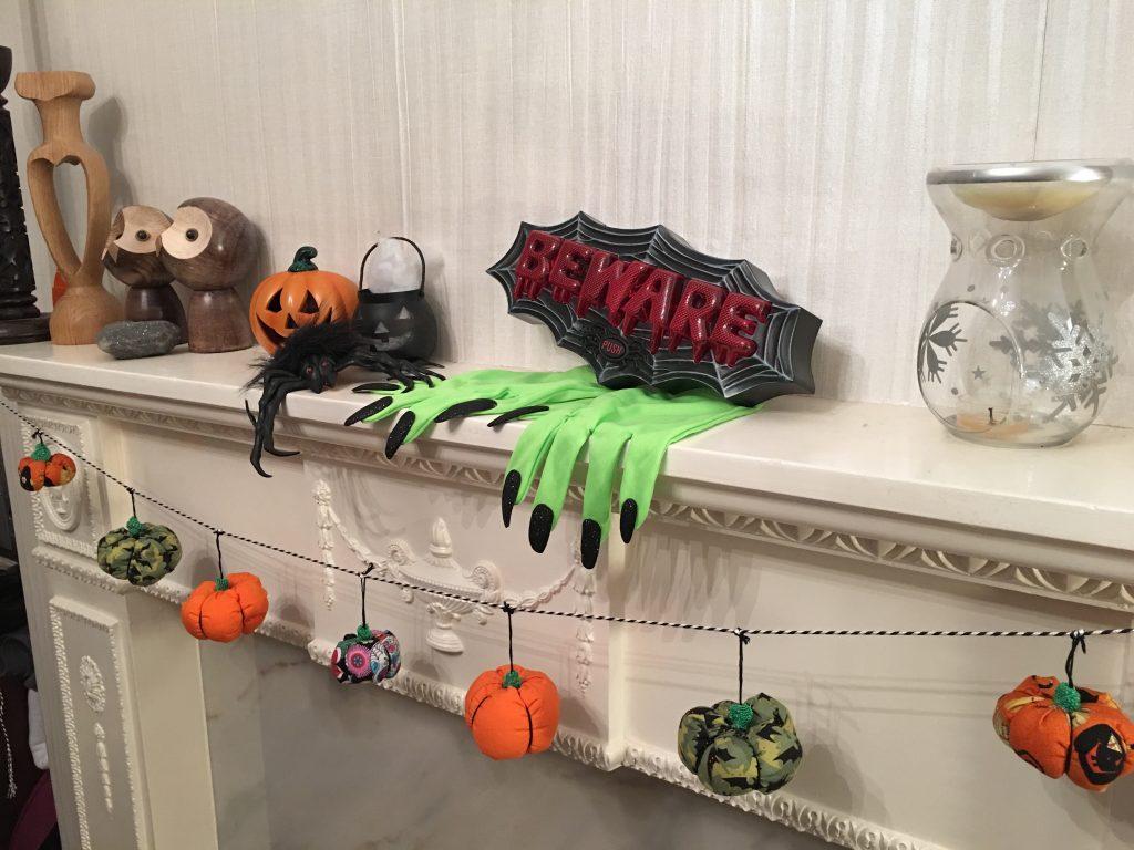 halloween pumpkins garland finish 2