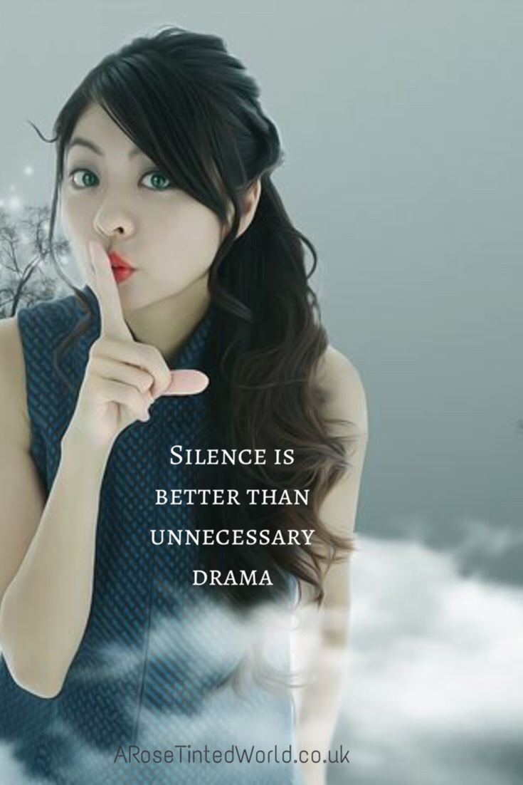60 Positive Motivational Quotes - silence is better than unneccesary drama