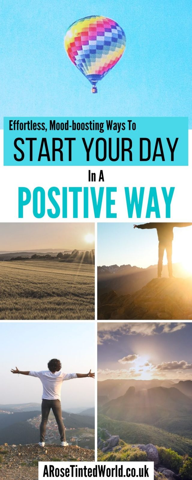 Positive Ways to Start Your Day - some effortless and simple tricks that you can do to instantly boost your mood on a morning when you get up. Use these life changing tips to instantly feel more positive #positivethinking #positivethoughts #positivemindset #positiveenergy #wakeup #moodboost