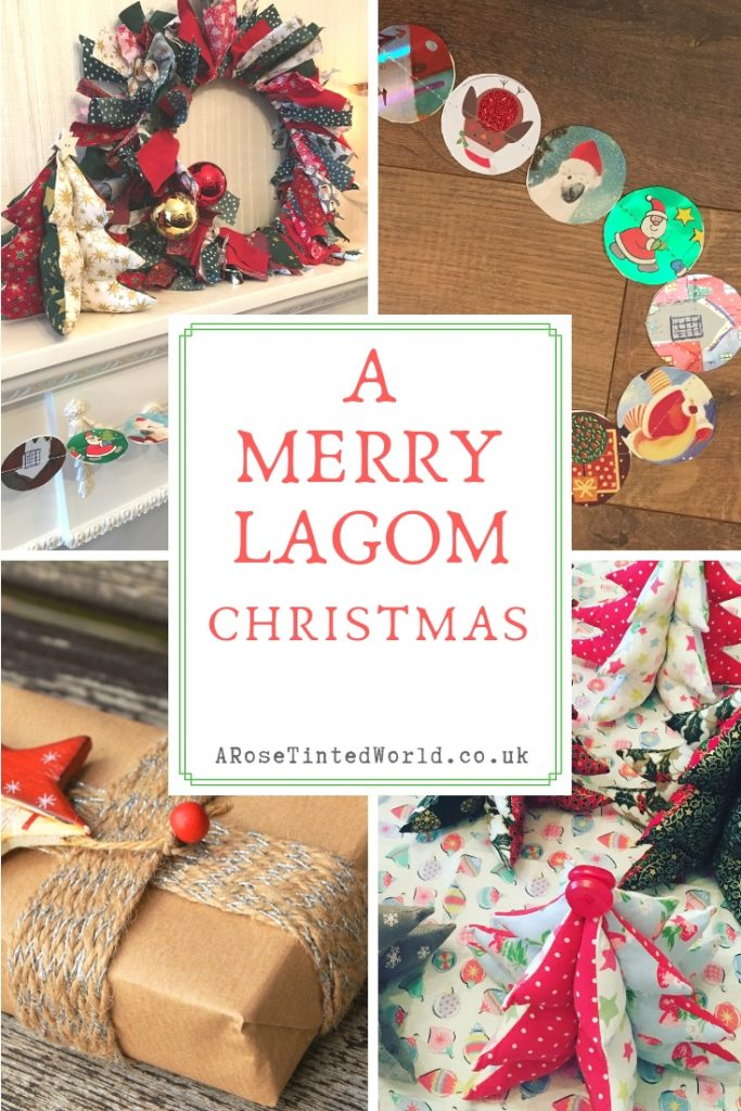 Zero Waste Christmas Tips - A Merry Lagom Christmas - here are some ideas hints tips and tricks on how to reuse, recycle and upcycle in order to have a more zero waste, eco friendly and frugal festive season. Holiday ideas on reducing waste and how to reduce plastic pollution this Xmas #lagom #christmas #zerowaste #christmascrafts #frugalchristmas #christmasdiy#christmasdecor #zerowastechristmas