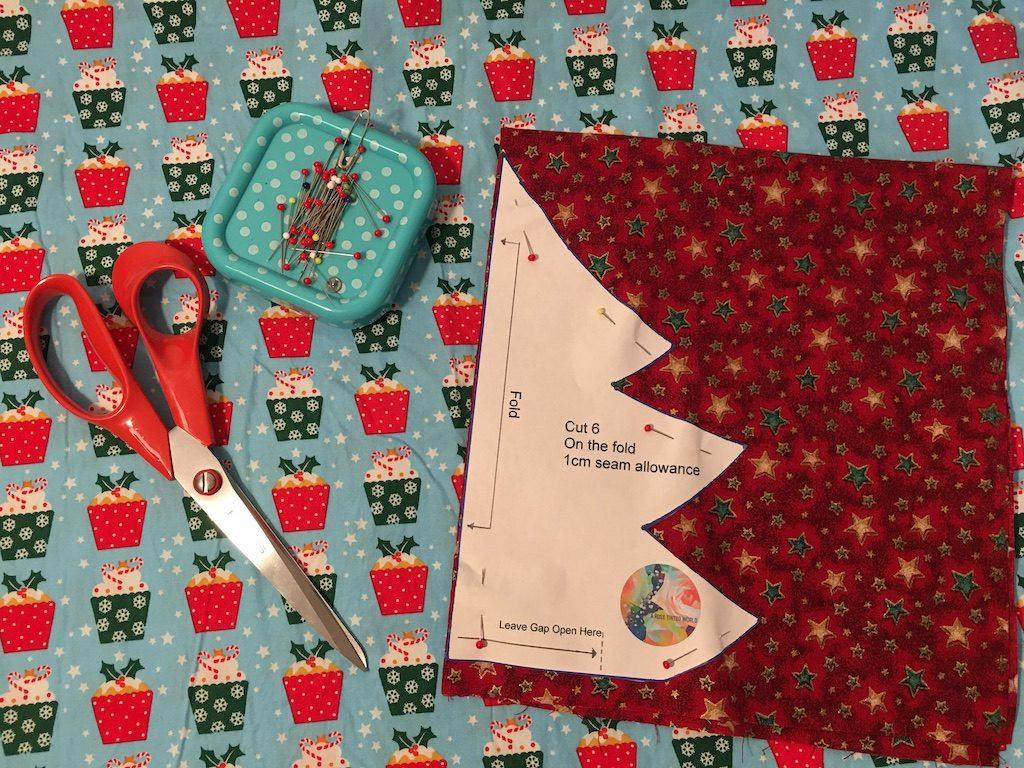 Padded Fabric Christmas Trees - 0