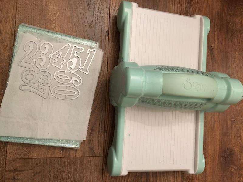 Advent Calendar Treat Bags - sissex die cutting machine