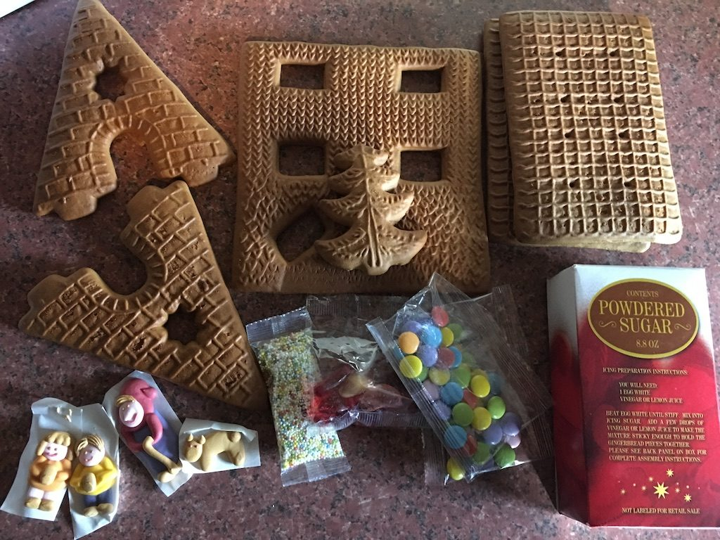 2nd of December - gingerbread house kit contents