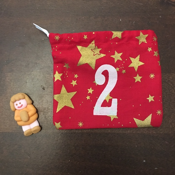 2nd of December - advent bag - sugar figurine