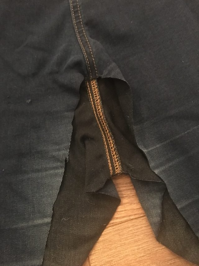 New Clothes From Old - trimmed inside leg