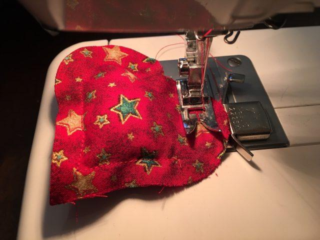 Padded Heart Valentine Garland - sewing gap