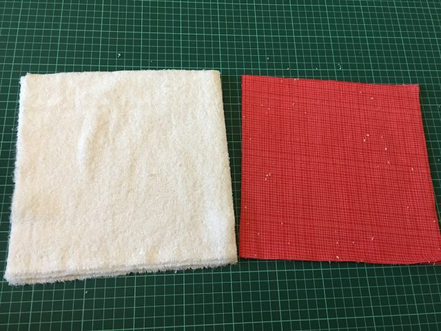 reusable kitchen roll - method 2 cutout squares