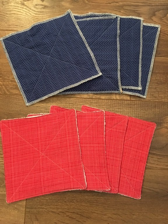Reusable Paper Towels - all the towels made up