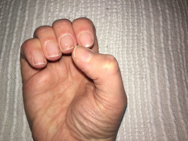Doing My Own Shellac Manicure - prepared nails 2