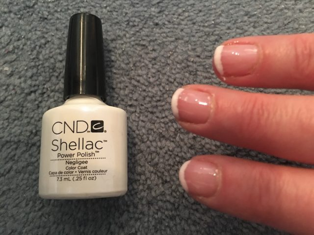 Doing My Own Shellac Manicure - negligee