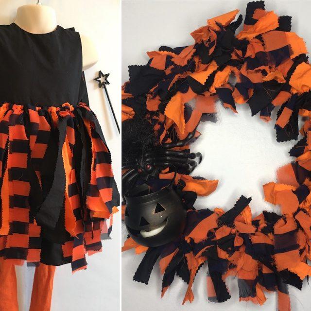 Halloween dress into wreath
