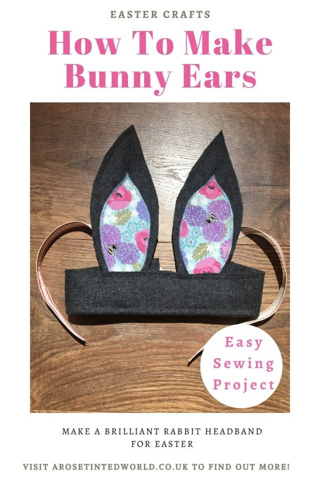 Homemade Bunny Rabbit Ears are a great alternative to an easter bonnet. Or just great for dressing up all year round. Find out how you can make some here! - Easy sewing project for beginners #sewing #eastercrafts #easysewingproject #easterbunny #easter #sewingtutorials