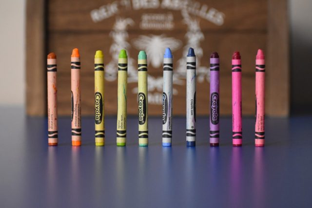 Life Doesn't Always Go To Plan - crayons