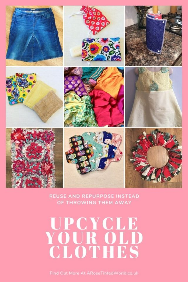 Upcycling Old Clothes ⋆ Fast Fashion is so environmentally unsound. Here are some zero waste and ecologically friendly ideas on saving fabric. Reuse, repurpose and recycle fabric with these thoughts and patterns. Upcycle your old clothing and cloth to make fabulous new things #lagom #upcycling #sustainableliving #sustainablefashion #sustainable #sustainability #upcycling #upcycleclothes #upcycleddenim #zerowaste #fastfashion #zerowastelifestyle #ecofriendlyideas