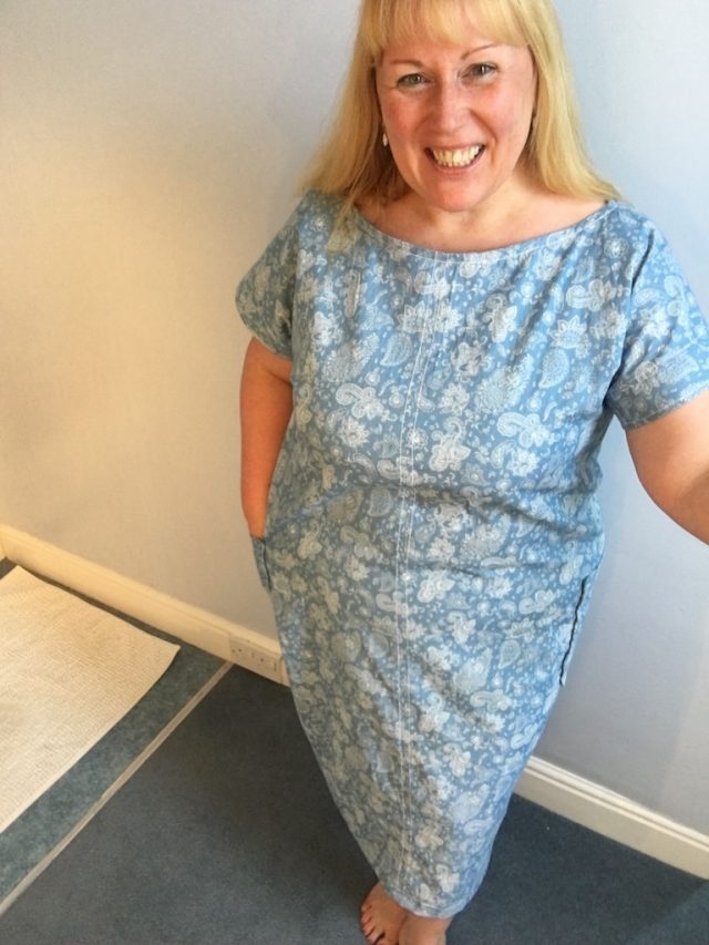 The Simple Sew Zoe Dress and Top pattern - finished dress