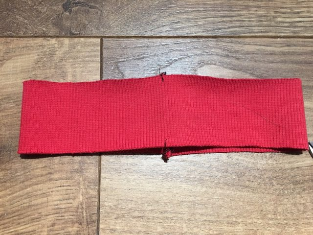 How To Sew A Neck Band Into A Stretch Garment - quartering the neckband piece