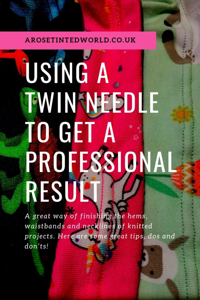 Using A Twin Needle
