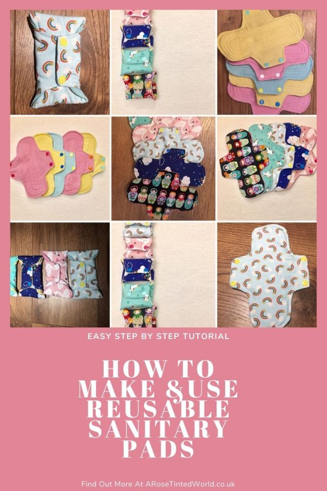 Reusable Sanitary Pads - How To Make And Use Them ⋆ These are a great way of upcycling old clothes and bedding. Upcycle from cloth. Zero waste. How to make, wash and clean them. Chart of core layers needed. Materials to use. Step by step tutorial #upcycling #reusablesanitarypads #zerowaste #makeyourownsanitarypads #sewingtutorial #zerowaste #clothpads #sanitarypads