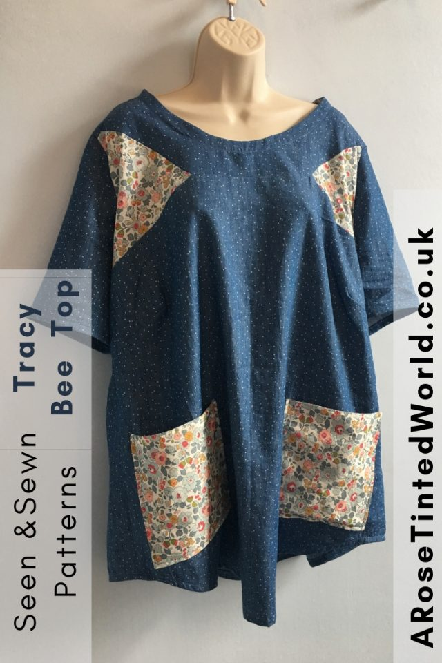 The Seen And Sewn Tracy Bee Tunic Pattern - a tunic pattern for advanced sewist. Sew a tunic or top. Great design features. #sewing #sewingpattern #slowfashion #handmaderevolution #seen&sewn #seenandsewn #tracybeetunic #tracybee #tracybeepattern