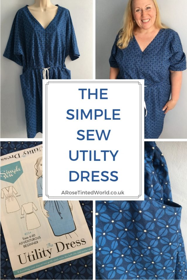 The Simple Sew Utility Dress pattern. What I thought of the pattern and how I made it. Wearable toile. The casual style dress has pockets. Why not sew your own. Adventurous beginner's dress pattern for sewers with a little experience. Intermediate sewing project for dress makers. #sewing #utilitydress #dresspattern #sewingtips #sewingpattern #dresshandmade #slowfashion #dresssewing #dresspattern #adventurousbeginnerssewingpattern #simplesew