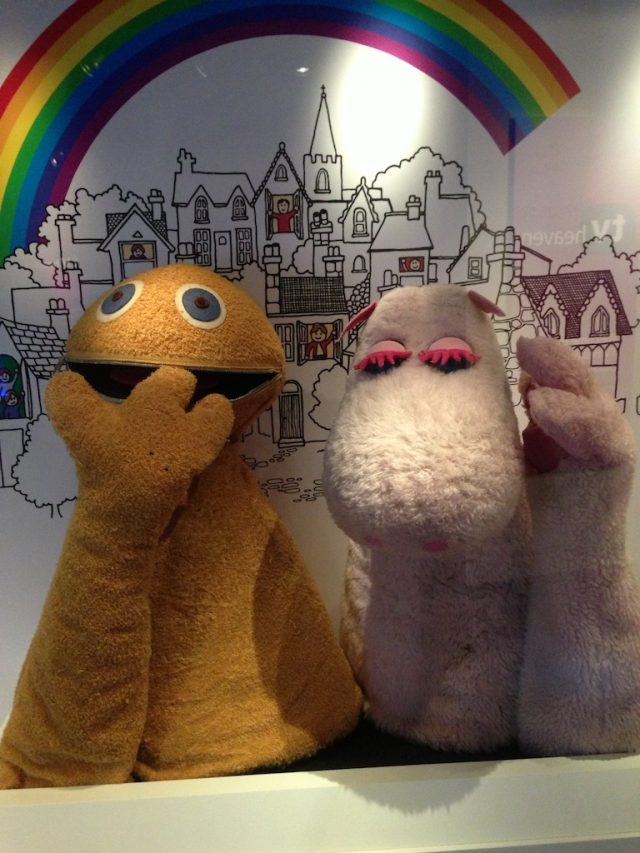 Zippy and George hand puppets from the 70s children's programme 'Rainbow'