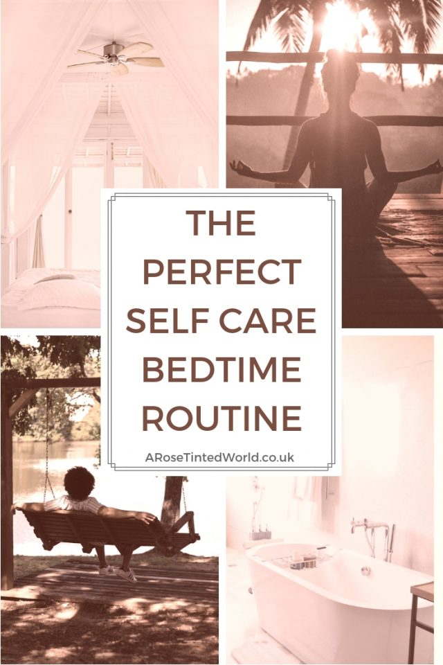 The Perfect Self Care Bedtime Routine - in 5 simple easy steps. Relaxing before bedtime is so important. Here are some effortless ideas to help you care for yourself, by winding down to relax properly in preparation for bedtime. Follow these hints tips tricks and hacks to get the perfect nights sleep. And renew yourself to be ready for tomorrow's activities. #sleepless #winddown #selfcare #cooldown #waystocooldown #coolbedroom #insomnia #insomniahelp #windingdown #perfectsleep