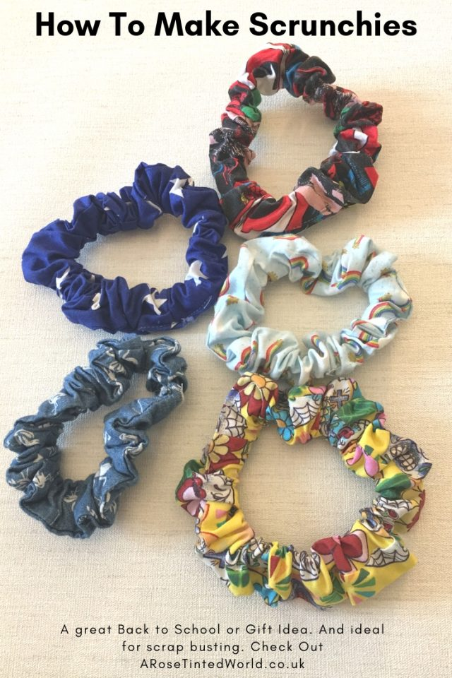 How to Make Scrunchies From Fabric Scraps - make these fabric hair bobbles from your remnant cloth and coordinate with all your clothing makes. Great gift idea. Brilliant item to sell. Quick and easy step by step tutorial. #zerowaste #recycled #upcycled #fabricscraps #scrunchies #90s #DIY #makingscrunchies #fabricscraps #zerowaste #backtoschool #giftideas