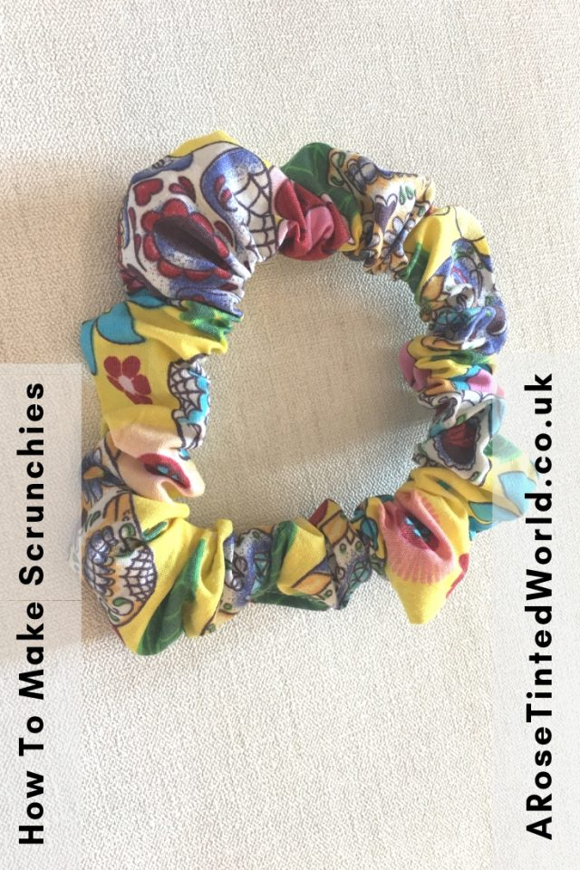 How to Make Scrunchies From Fabric Scraps - using up waste fabric and up cycling old cloth to make other things #zerowaste #recycled #upcycled #fabricscraps #scrunchies #90s #DIY #makingscrunchies #backtoschool #giftideas