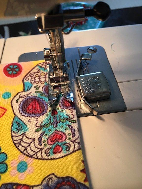 Topstitching - Sew around the edge 6mm - closing the turning gap