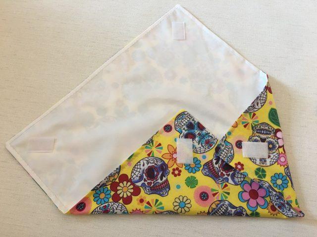 Sew velcro at corresponding corners
