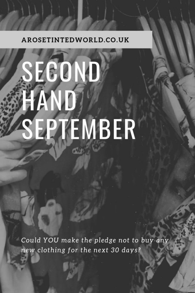 Second Hand September is an initiative to encourage us to buy preloved instead of new. Here are some ideas of how you can get involved & maybe make money! #secondhandseptember #secondhandclothes #secondhand #preloved #charityshop #thriftshop #thriftstore #thriftstoreupcycle #charityshopupcycle #ebay