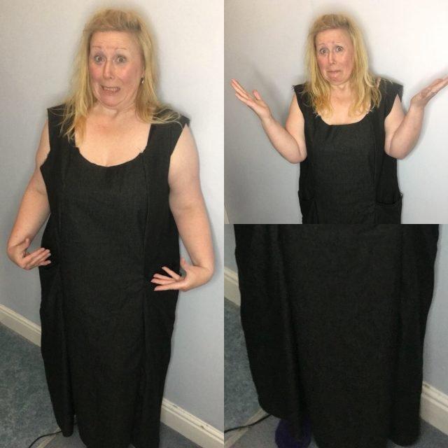 A horrendous baggy dress