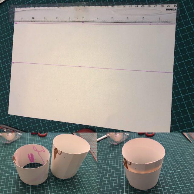 Making the cardboard tube inners