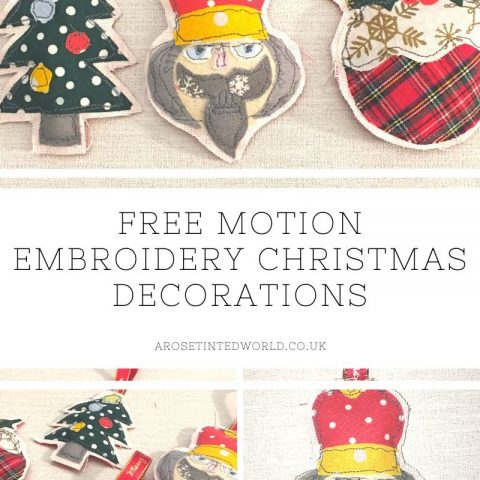 Free Motion Embroidery Christmas Decorations