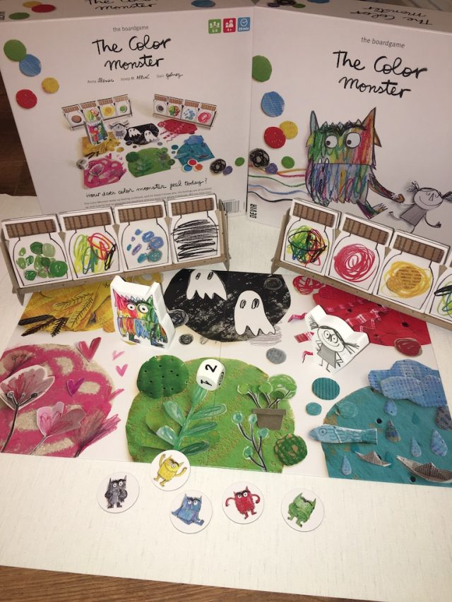 The board game and its pieces