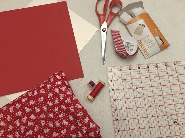 Reusable Fabric Christmas Crackers - materials needed