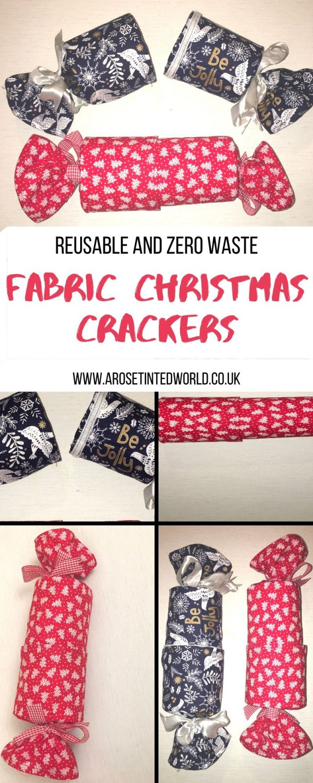Reusable Fabric Christmas Crackers are a zero waste and sustainable alternative to regular Christmas crackers in the festive holiday season. #christmascrackers #diycrackers #diychristmascrackers #christmascrafts #christmascraftideas #christmasdiy #sustainablechristmas #sustainableliving #sustainable #zerowaste #zerowastechristmas #zerowastelifestyle