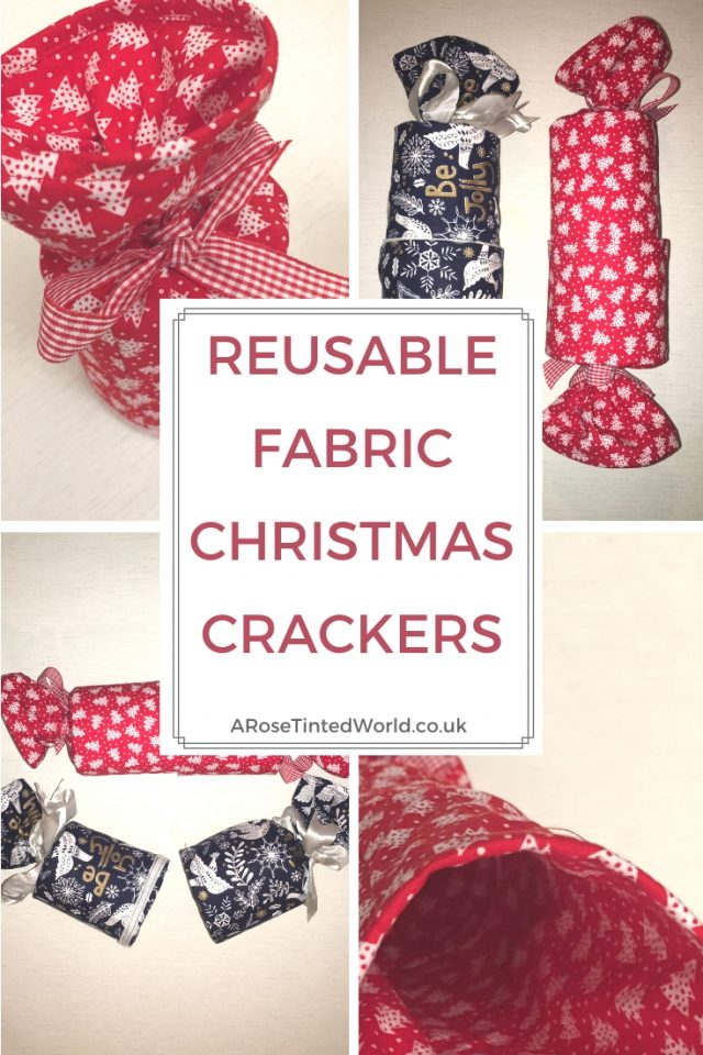 Reusable Fabric Christmas Crackers - these are a zero waste and sustainable alternative to regular Christmas crackers in the festive holiday season. Christmas DIY craft for frugal living and sustainability. Make them as Christmas decor, or as gift parcels. Zero waste Xmas craft idea. #christmascrackers #diycrackers #diychristmascrackers #christmascrafts #christmascraftideas #christmasdiy #sustainablechristmas #sustainableliving #sustainable #zerowaste #zerowastechristmas #zerowastelifestyle