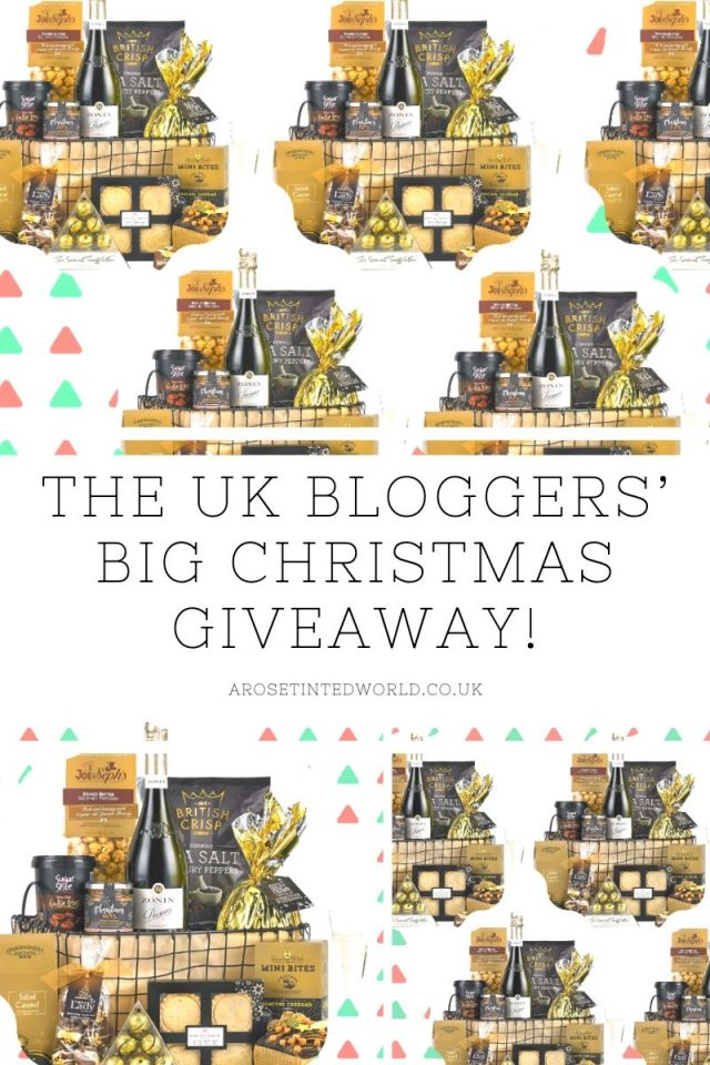 The UK Bloggers' Big Christmas Giveaway! - win one of 5 hampers in the biggest blogger collaboration this year. These sumptuous deluxe Xmas treats are perfect for gifts or to share. Perfect Christmas present. Enter the competition here. #christmashampers #win #competition #winahamper #christmas #christmashamper #christmasfood