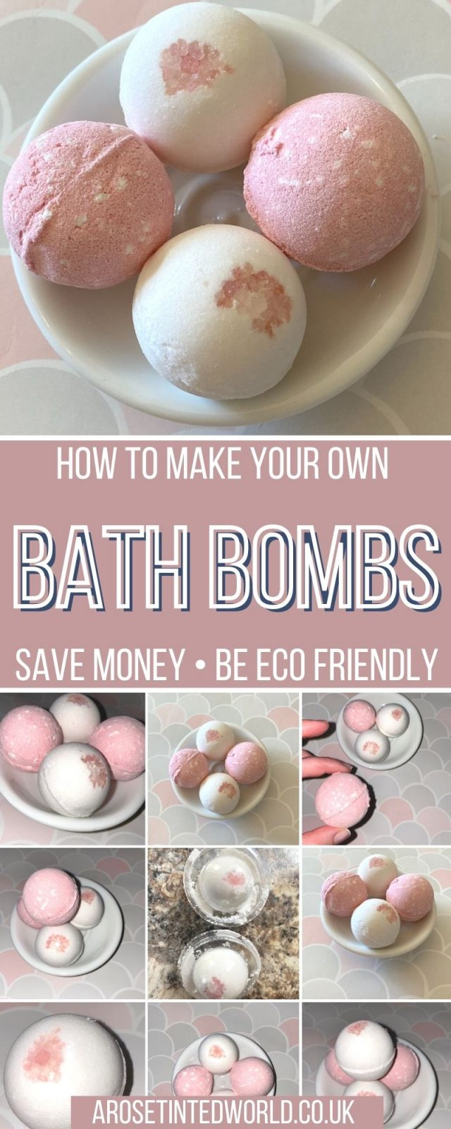 How To Make Your Own Homemade Bath Bombs - bath fizzers can be so expensive, but here is a tutorial on how to make your own cheaply and easily at home! This natural bath bomb recipe uses ingredients that you probably already have in your cupboards at home. Develop this basic idea using color, essential oils and decorations to create your own custom bath bombs recipes. They make great DIY gifts and are perfect to sell too.