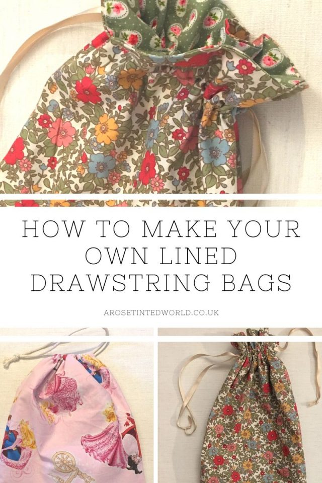 How To Make A Lined Drawstring Bag - here are two methods of making a drawstring bag. Ideal for a fabric gift or present bag. Very easy to whip up in a few minutes. They make beautiful zero waste birthday and Christmas gifts bags. But they are also the perfect way to making school shoe bags, laundry bags, loose produce bags and millions of other uses. Easy step by step pictorial sewing tutorial, perfect for beginners or those learning to sew.