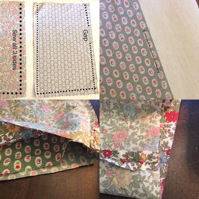 Sewing a drawstring bag - method 2 part 1