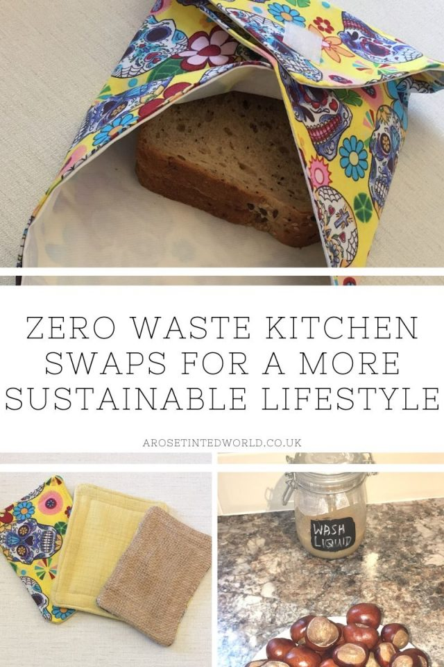 Zero Waste Kitchen Swaps - here are some great ideas for some easy kitchen swaps that you can make on your journey to a more sustainable and ecofriendly lifestyle. Be frugal, save money and be eco friendly. Swap disposable plastic products for unsponges, beeswax wraps, reusables etc. Perfect for Plastic Free July. #zerowaste #kitchenswaps #zerowasteliving #zerowastelifestyle #zerowastekitchen #ecofriendlykitchen #sustainableliving #sustainability #plasticfree #environmentallyfriendly
