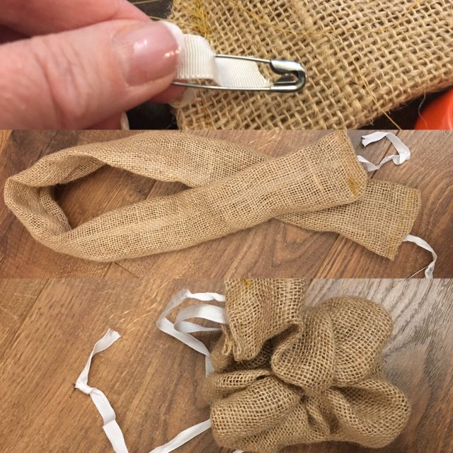 Threading the ribbon through