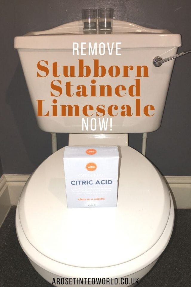 How To Remove Stubborn Stained Limescale From Your Toilet - need an easy way to remove unsightly ingrained stains and limescale from your loo? This method needs no elbow grease, is quick and easy and good for the environment. #cleaningtips #cleaninghacks #cleaningtricks #cleanhome #cleaningideas #Ωcleaningtipsandtricks #limescale #limescaleremoval #toiletcleaner #toiletcleaningtips #hinch #stainremoval
