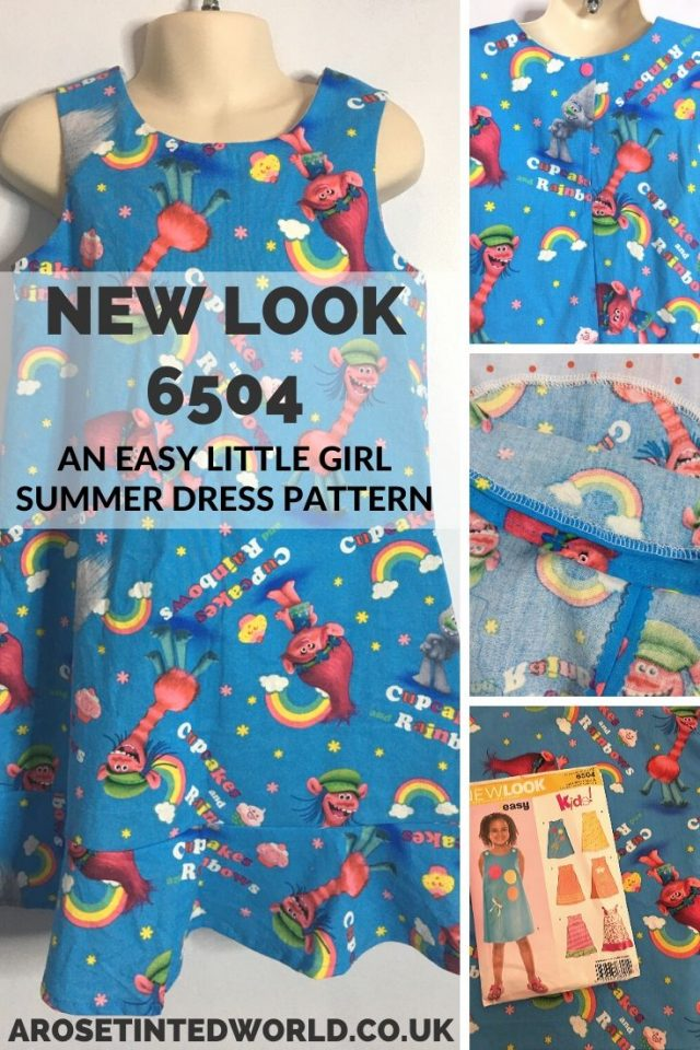 The New Look 6504 dress sewing pattern is a brilliant adaptable and customisable child's dress making pattern. See how mine turned out and find out why this pattern is so versatile #sewing #dressmaking #childrensdressmaking #dressmaker #sewingprojects #sewingtutorials #sewingpatterns #slowfashion #sewingclothes #beginnerssewingprojects #easysewing #newlook