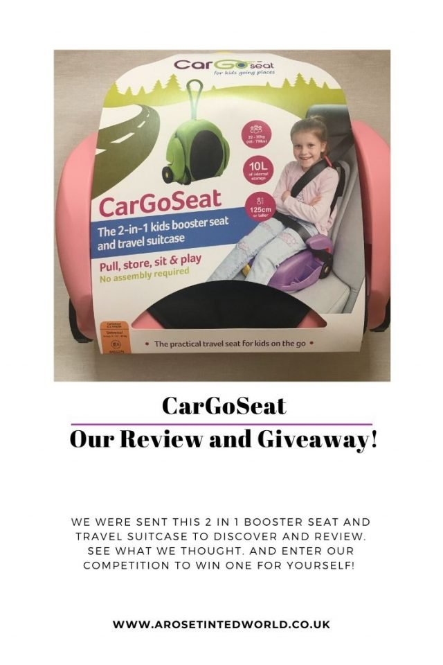 CarGoSeat - Our Review And Giveaway. We were sent a CarGoSeat - a 2 in 1 booster seat and travel suitcase to discover and review. See what we thought and win one for yourself. #win #CarGoSeat #boosterseat #travelboosterseat